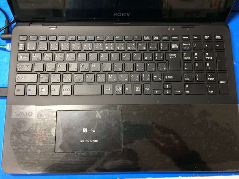 VAIO Fit15キーボード交換